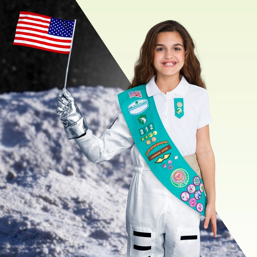 Girl Scout astronaut