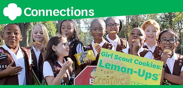 Girl Scouts enjoy the new Lemon-Ups cookie