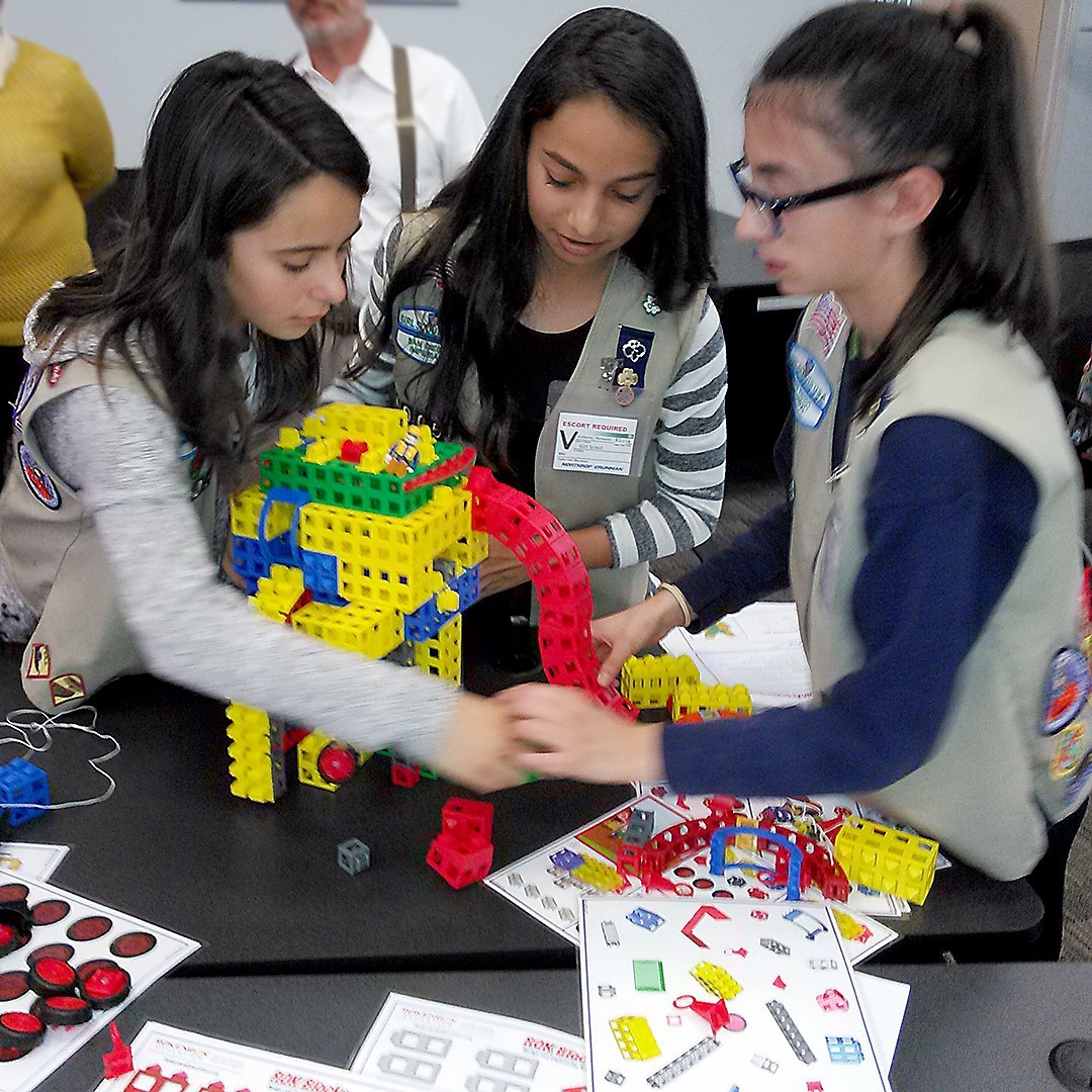 Girls building
